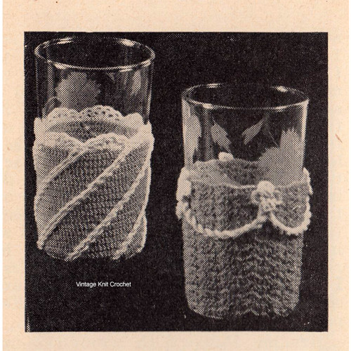 Vintage Crochet Glass Muffs Pattern from Workbasket