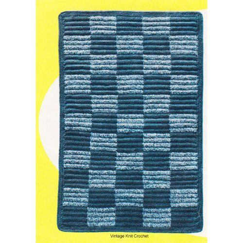 Crocheted Checkerboard Area Rug Pattern