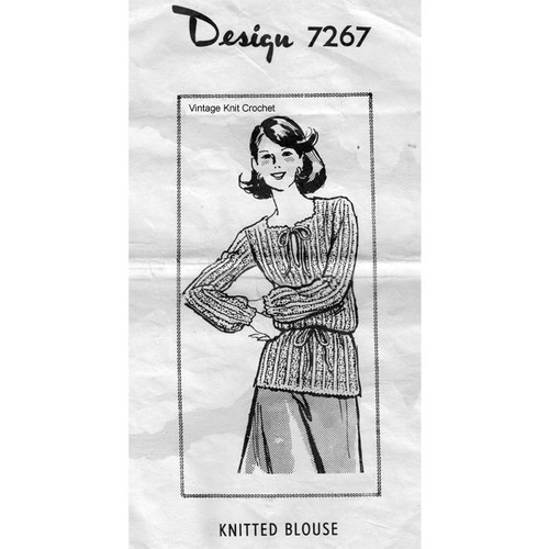 Mail Order Pattern 7267, Knitted Blouse