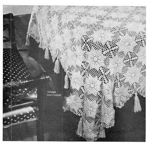 Crocheted Flower Cotillion Bedspread Pattern