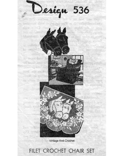 Filet Crochet Horse Pattern Mail Order 536