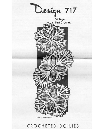 Pineapple Crochet Doilies, Square Oval Round, Mail Order 717