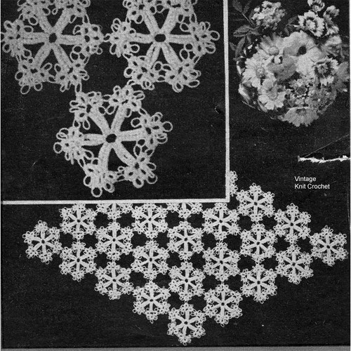 Snowflake Tatted Medallion Pattern Workbasket