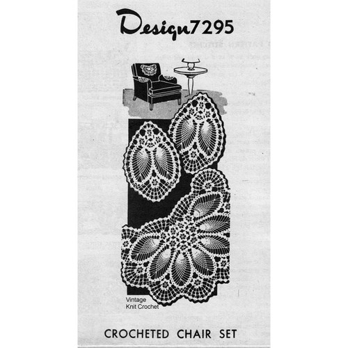 Alice Brooks 7295, Pineapple Flower Chair Set Crochet Pattern