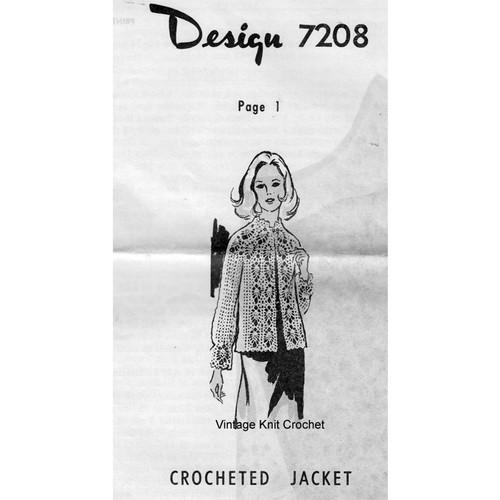 Alice Brooks 7208, Crochet Pineapple Jacket Pattern