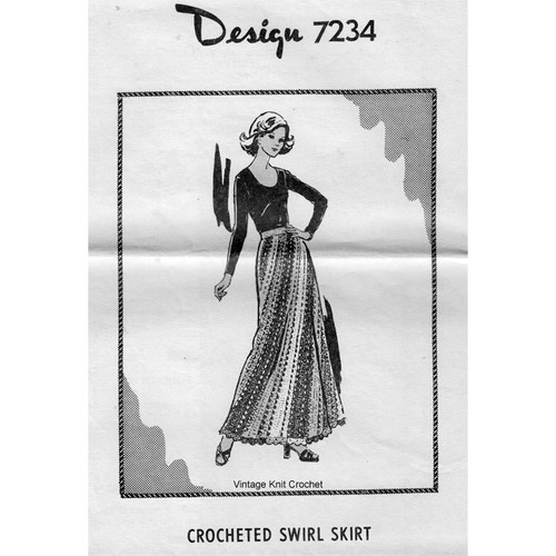 Alice Brooks 7234, Crocheted Long Skirt