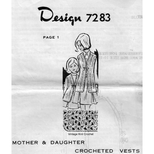 Crochet Mother Daughter Vests, Alice Brooks 7283