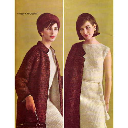 Knitted Mohair Suit Pattern, Bernat Style 1733