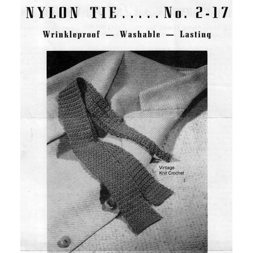 Vintage Nylon Crocheted Tie Pattern