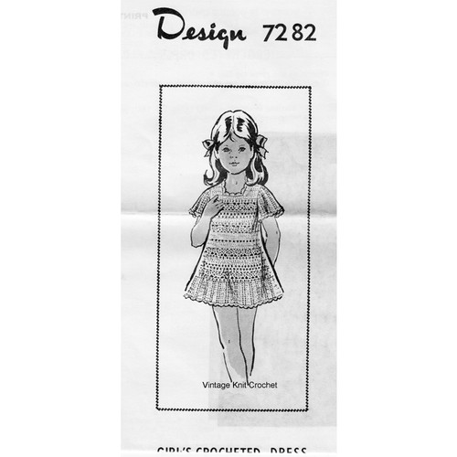 Alice Brooks 7282 Girls Crochet Dress Pattern