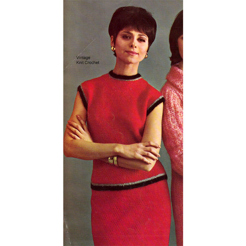 Mohair Two Piece Dress Knitting Pattern
