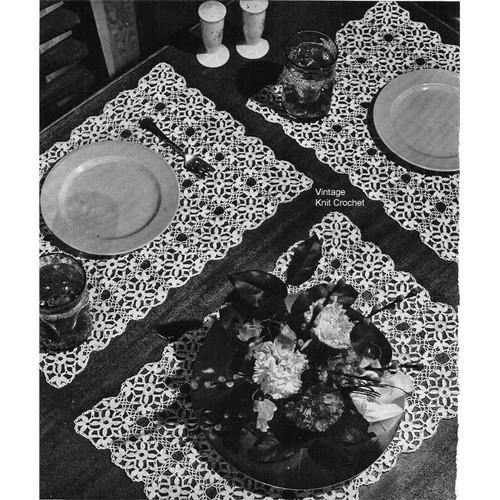 "Vintage Crochet Luncheon Set of 2-1/2"" medallions"