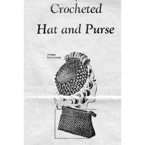 Alice Brooks 7178, Crocheted Hat and Bag Pattern