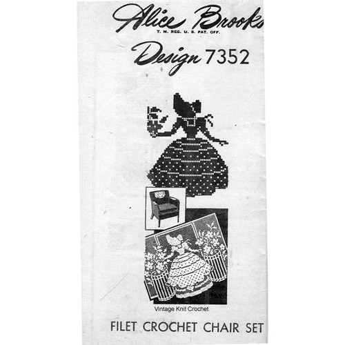 Mail Order 7352, Old Fashioned Girl in Filet Crochet