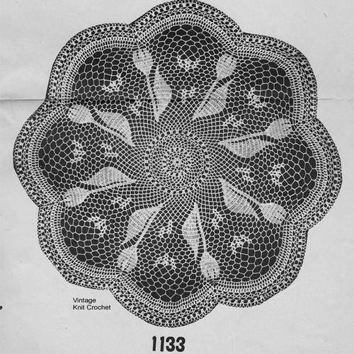 Mail Order Crochet Tulip Doily Pattern No 1133