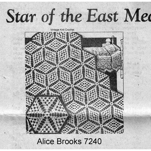 Star of Easy Crochet Medallion Tablecloth Pattern No 7240