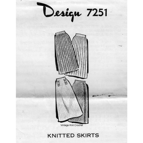 Four Knitted Skirts Pattern, Alice Brooks 7251