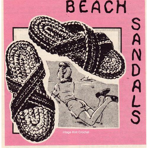 Free Crochet Sandals Pattern, Vintage 1950s
