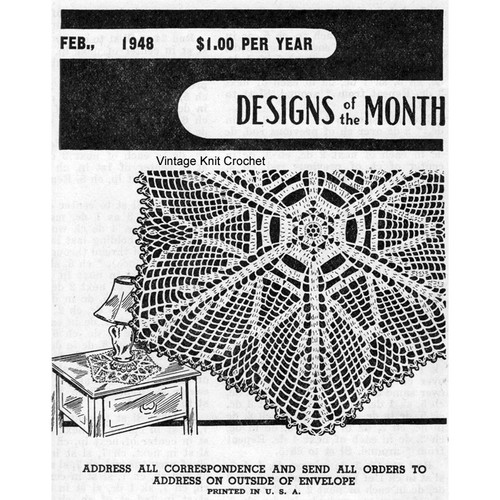 Designs of the  Month, Star Leaf Crochet Doily Pattern