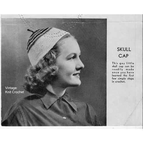 Beginners skull cap crochet pattern