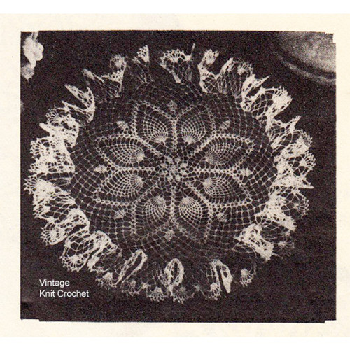 Free Pineapple Doily Crochet Pattern, Anne Cabot 1949