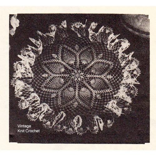Free Pineapple Doily Crochet Pattern, Anne Cabot 1949