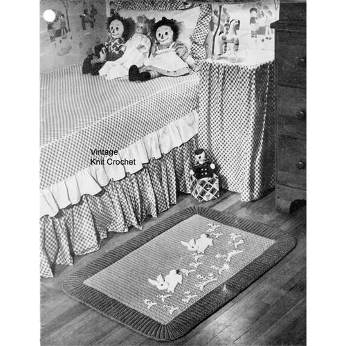Childs Crochet Bunny Rug Pattern