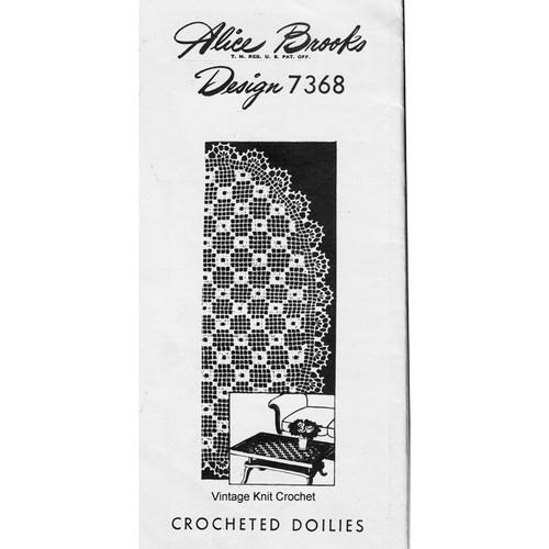 Filet Crochet Oval Doily Pattern, Mail Order 7368