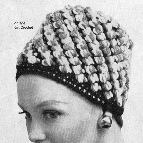 Nubby Crochet Tall Hat Crochet Pattern
