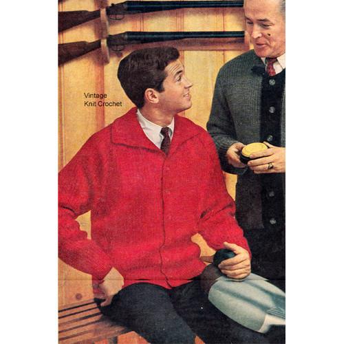 Knitting Pattern Mans Raglan Jacket