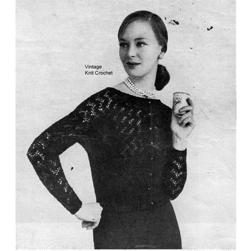 Knitted Dolman Sleeve Lace Cardigan Blouse Pattern