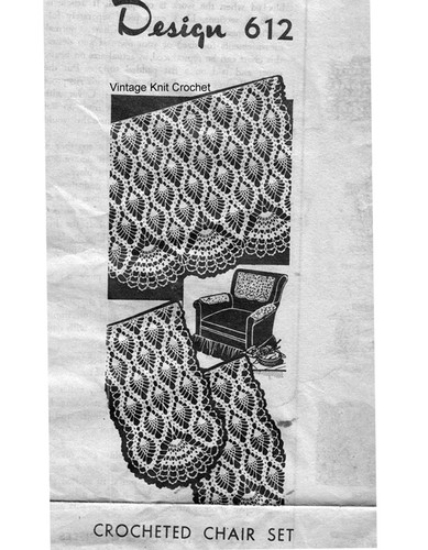 Pineapple Crochet Chair Set Pattern, Mail Order 612