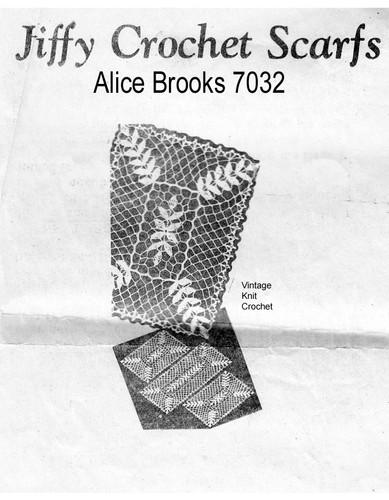 Crochet Petal Stitch Scarf Pattern, Mail Order 7032