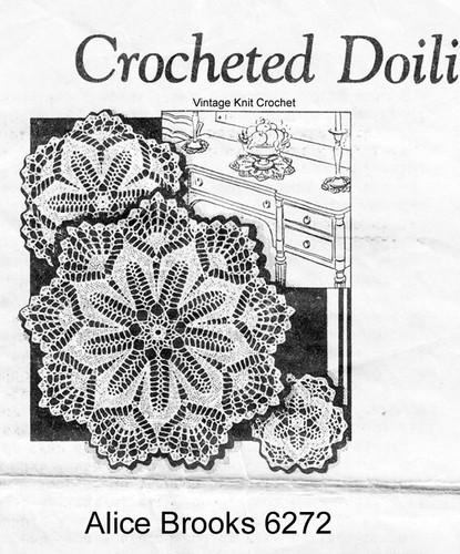 Vintage 1930's Crochet Doily Pattern, Mail Order 65272