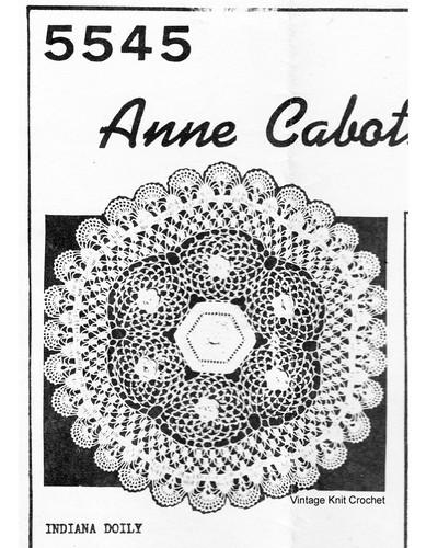 Crochet Flower Rosette Doily Pattern, Anne Cabot 5545