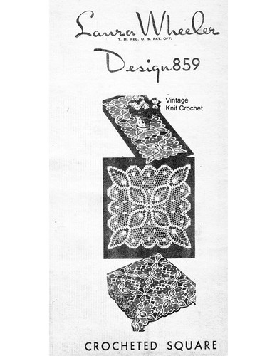 Large Pineapple Crochet Square Pattern, Mail Order 859