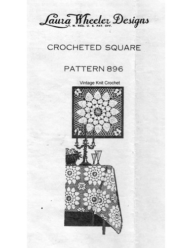 Dahlia Doily Crochet Pattern, Mail Order 896