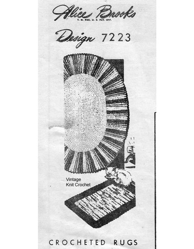 Crochet Rugs Pattern, Oval Oblong, Mail Order Design 7223