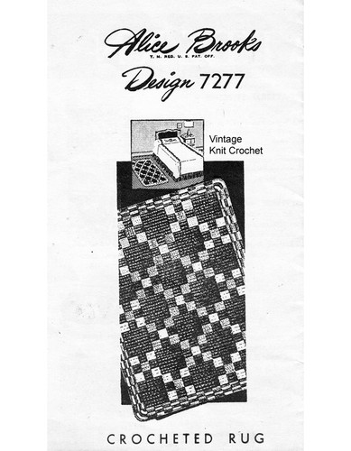 Vintage Rug Pattern in Single Crochet, Mail Order 7277