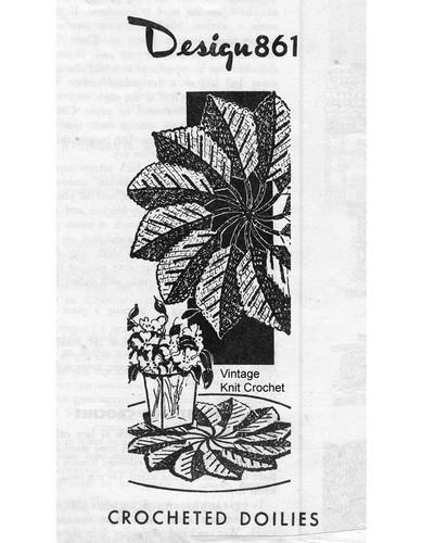 Spiral Leaf Crochet Doilies Pattern, Laura Wheeler 861