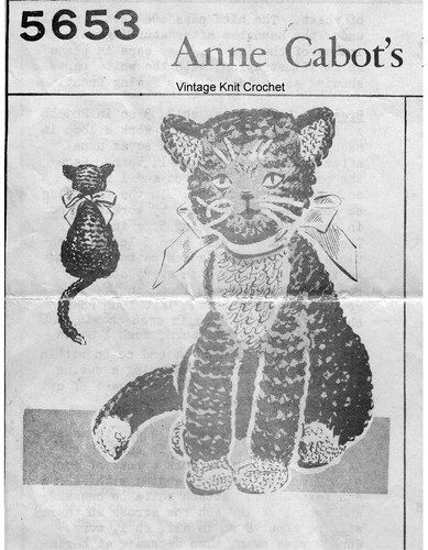 Mail Order Crochet Cat Pattern No 5653
