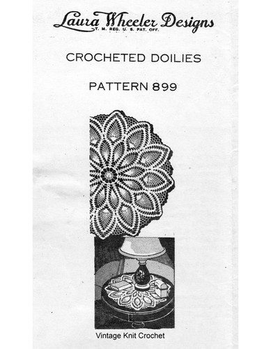 Pineapple Crocheted Doilies Pattern, Laura Wheeler 899