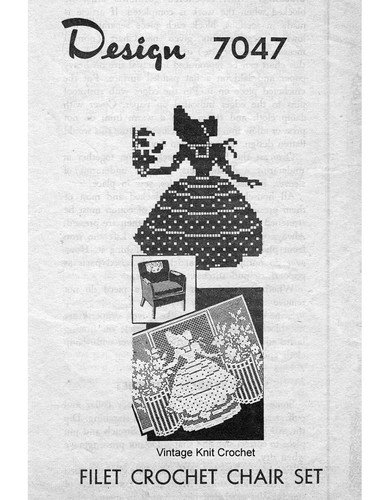 Filet Crochet Old Fashioned Girl, Mail Order 7047