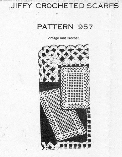 Crochet Mesh Placemats Pattern, Mail Order 957