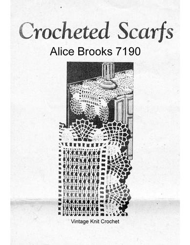 Jiffy Crochet Mats Pattern, Mail Order 7190