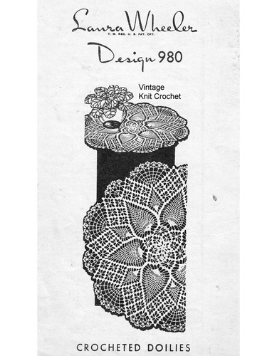Large Pineapple Crocheted Doily Pattern, Mail Order 980