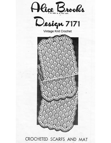 Pineapple Runner Crochet Pattern, Mail Order 7171