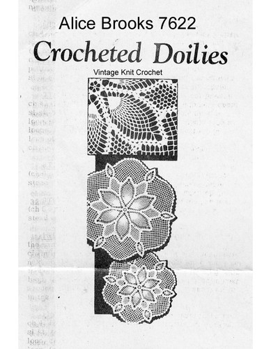 Flower Crochet Doily Pattern, Pineapples, Mail Order 7622