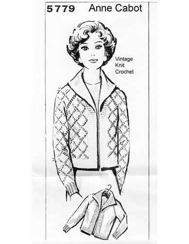 Knitted Raglan Sleeve Sweater Pattern, Mail Order 5779