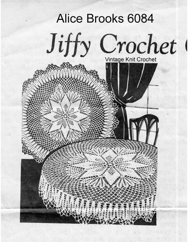 Vintage Round Star Crochet Cloth pattern Mail Order 6084
